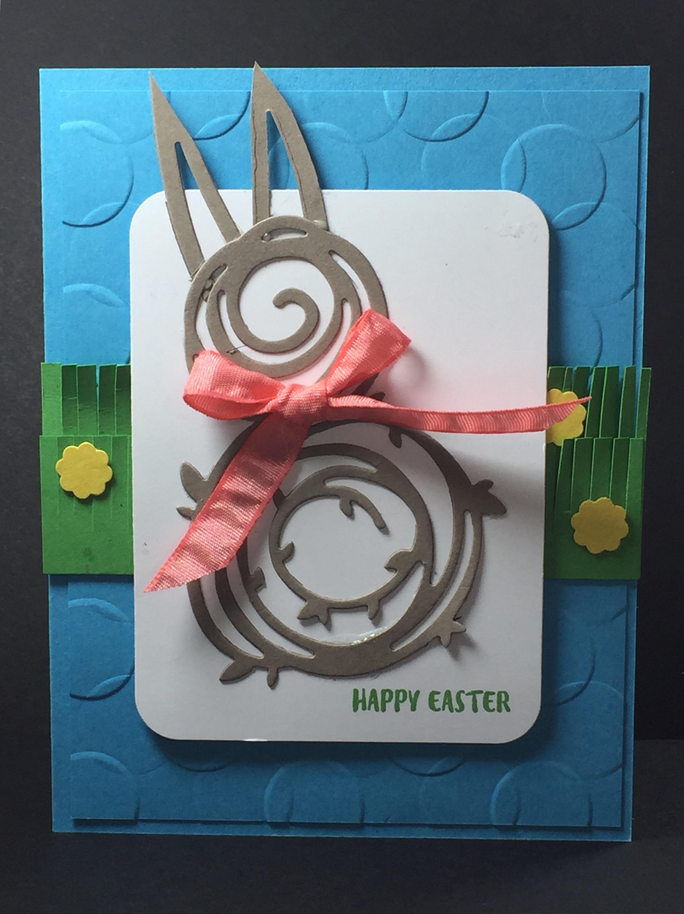 Swirly bird Easter Bunny