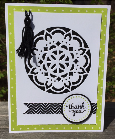 Eastern Medallion card with a create your own tassel