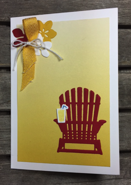 Peaceful Adirondack Chair card with Lemonade