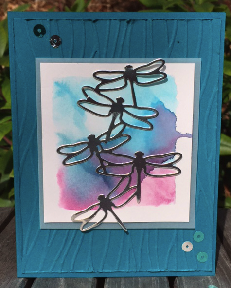 Create a watercolor background with Stampin' Write markers and an acrylic block