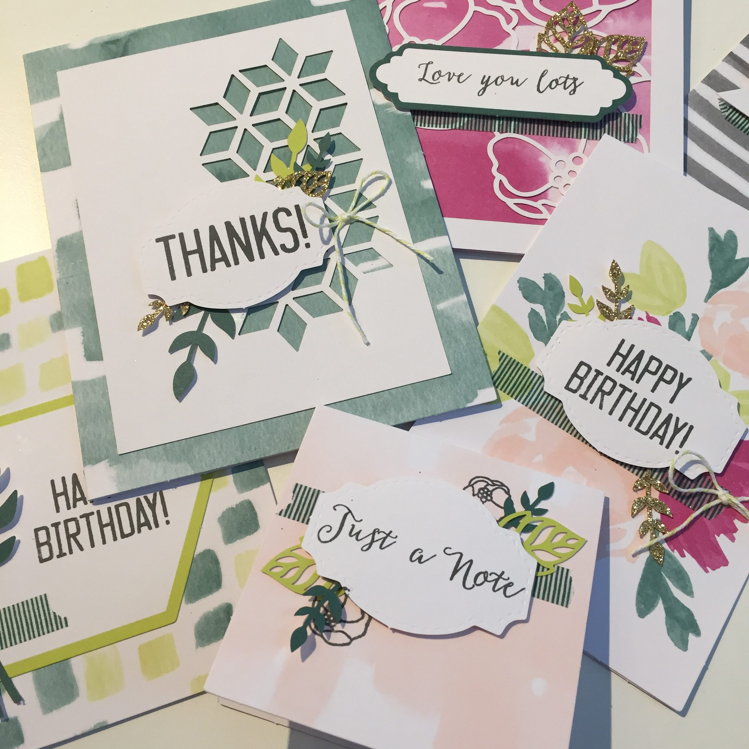 Cards from the Soft Sayings card kit