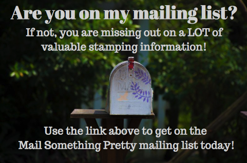 Add yourself to my mailing list!
