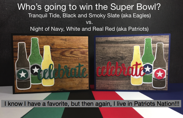 Super bowl beer bottle card color challenge