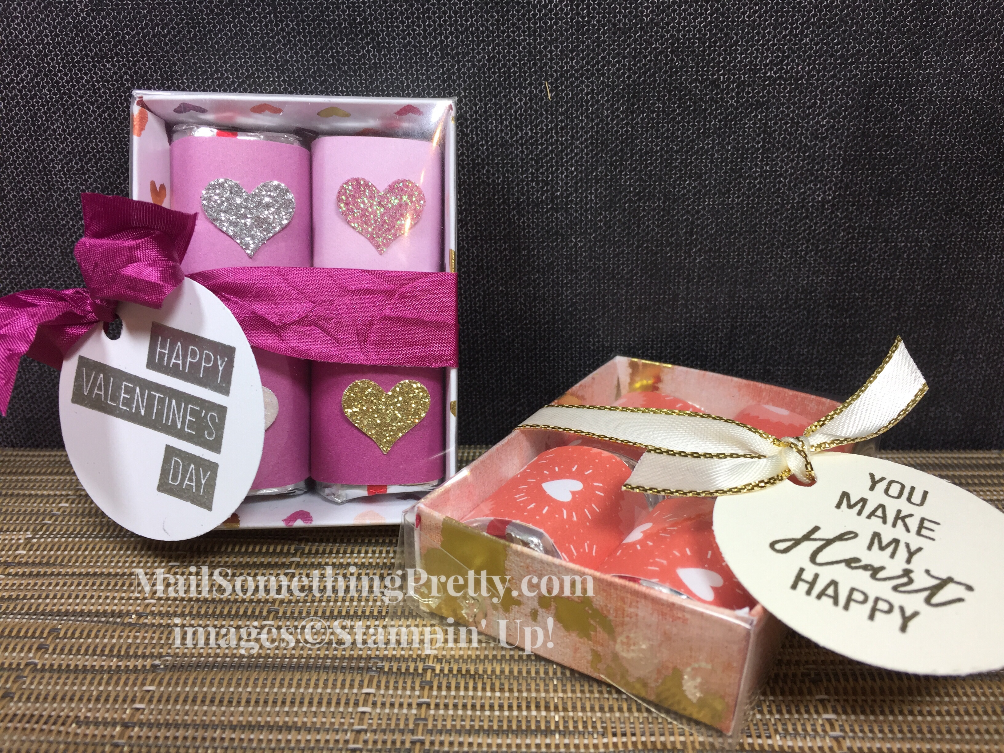 Valentine treat boxes with Hersey nuggets